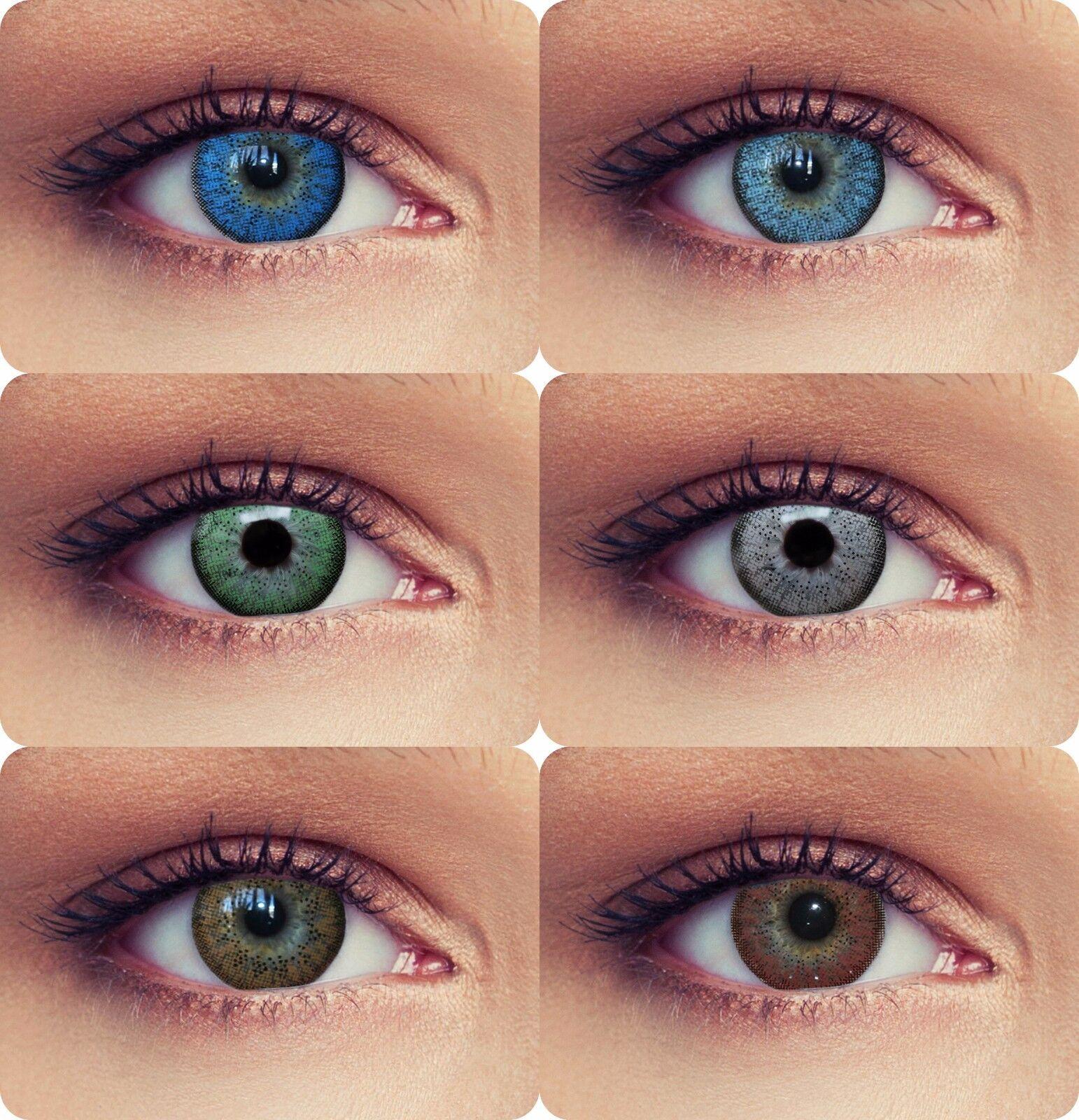 """Natürlich wirkende farbige Kontaktlinsen mit Stärke grün blau braun """"Natural"""""""