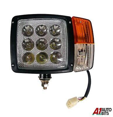LH Front Headlight Led Lamp Indicator For John Deere Terex TATA Wiring & Plug HQ