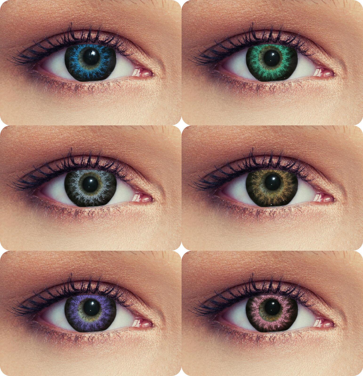 Farbige Kontaktlinsen 3 Monatslinsen Contact lenses Design: High intensive