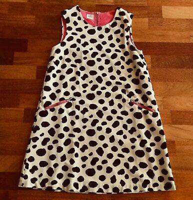 Mini Boden RARE! Dalmation Dog Print Pinafore Jumper Dress 11-12 Yr