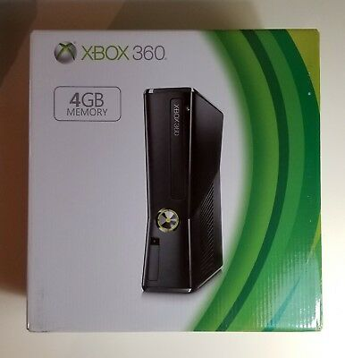 Microsoft Xbox 360 Slim 4GB Black Console Model 1439 BRAND NEW FACTORY SEALED comprar usado  Enviando para Brazil