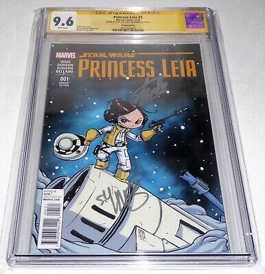 Princess Leia #1 CGC SS Dual Signature Autograph STAN LEE YOUNG Marvel Comics