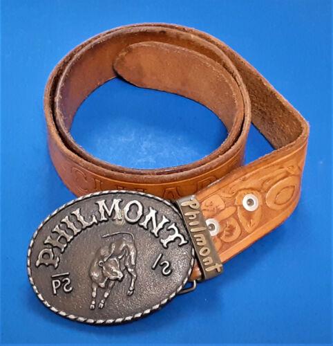 Vintage Philmont Boy Scouts Belt and Buckle Cimarron NM Size 32