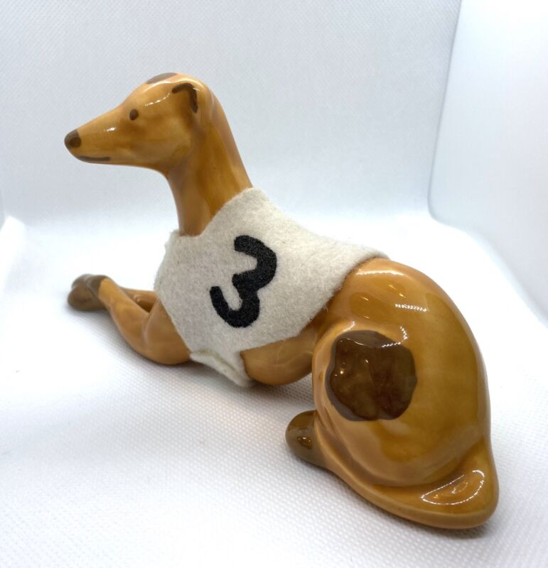 Vintage Greyhound Porcelain Figurine Souvenir #3