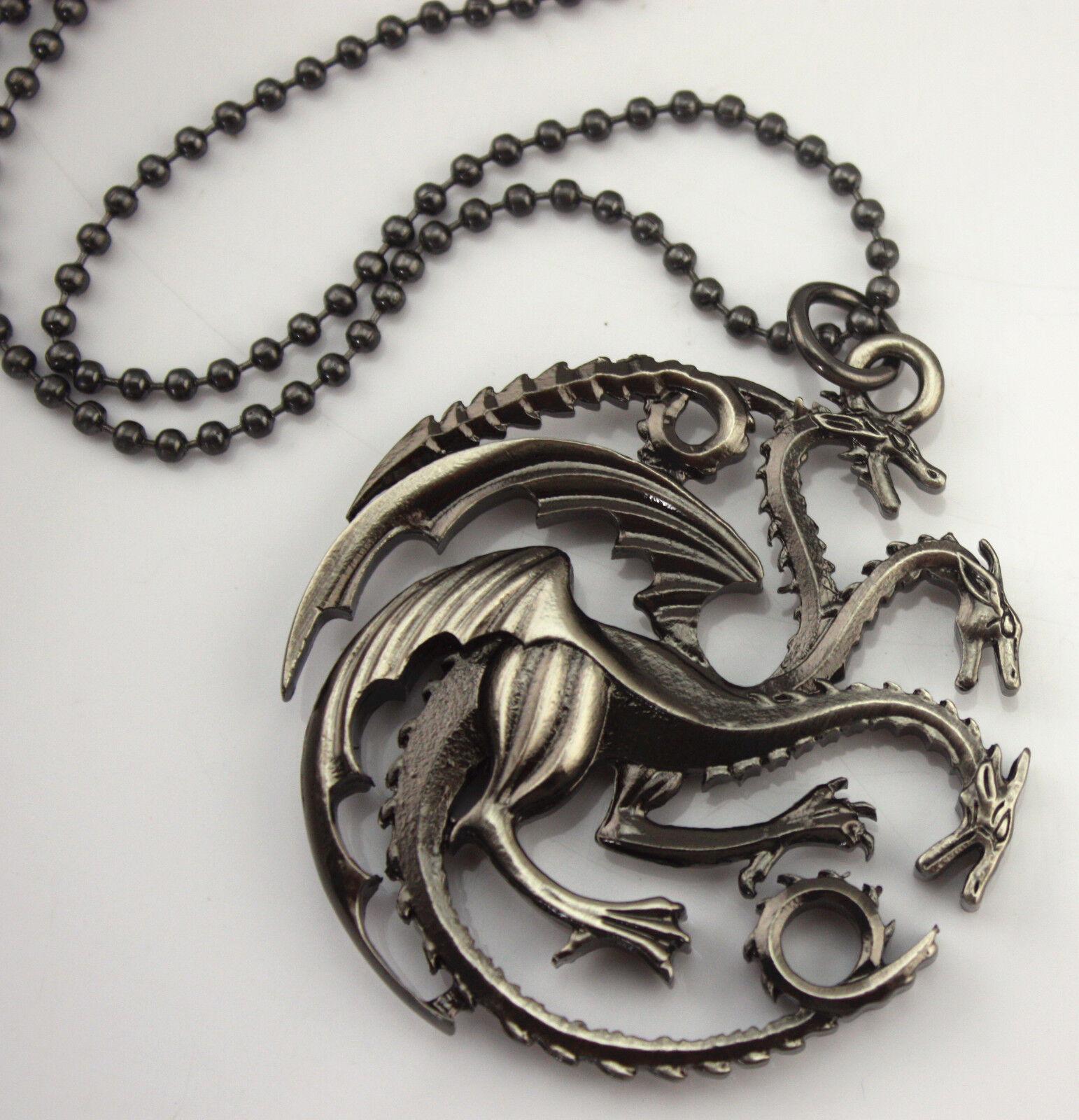 of thrones house targaryen pendant necklace dragons
