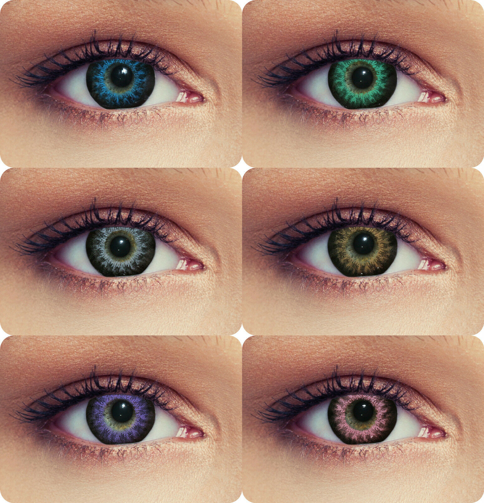 """Farbige Cosplay Farblinsen Kontaktlinsen mit oder ohne Stärke """"High intensive"""""""