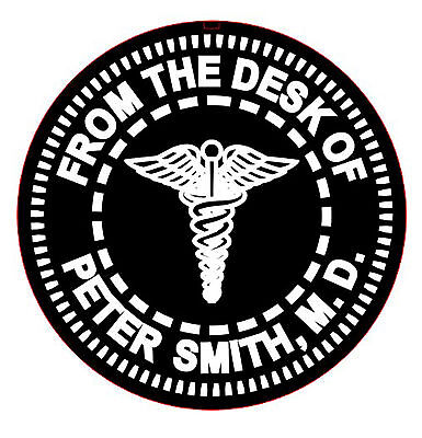 - FROM THE DESK OF Caduceus or Medical Sign Embosser Circular Layout Shiny EZ-Seal