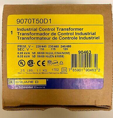 Square D Transformer Control 9070t50d1 50va Pri 240480 Sec 120 New In Box
