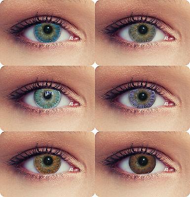 Farbige Kontaktlinsen ohne Stärke Funlinsen 3 Monatslinsen Design: Bright