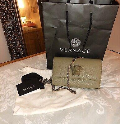 VERSACE Womens Khaki Chain Shoulder/clutch Bag