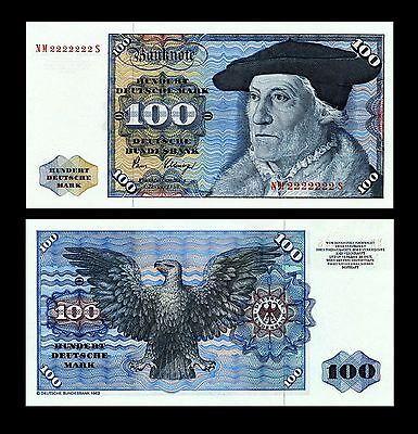 * * * 100 Deutsche Mark Geldschein 1980 Alte deutsche Währung * * *