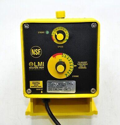 Lmi Milton Roy Electromagnetic Dosing Pumpb111-d98hi Metering Auto-prime Head