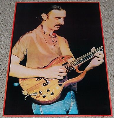 FRANK ZAPPA Live In Concert Gibson SG Guitar Poster 1979 Big O London England