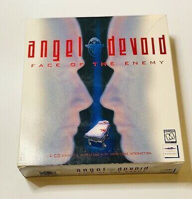 Vintage Angel Devoid: Face of the Enemy Mindscape 1995 4 CDs for DOS PC Big Box!