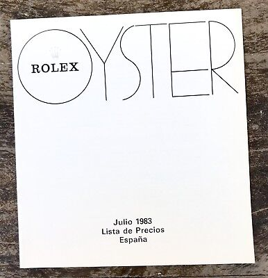 ROLEX Vintage Price List 1983 Spain Explorer 1655 1665 5513 6263 6265 Daytona