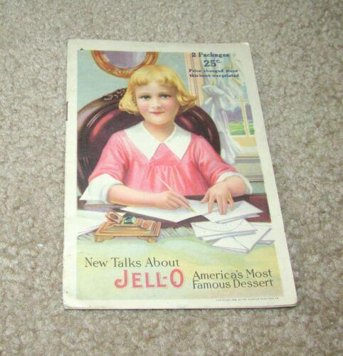 1918 NEW TALKS JELL-O JELLO AMERICA's FAVORITE DESSERT ADVERTISING BROCHURE