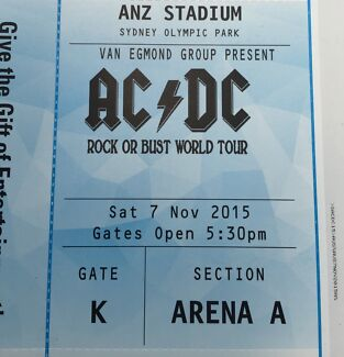 AC/DC Tickets Sydney Bray Park Pine Rivers Area Preview