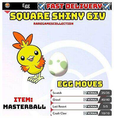 Pokemon Sword & Shield ✨SHINY✨ TORCHIC EGG 6IV ADAMANT FAST DELIVERY