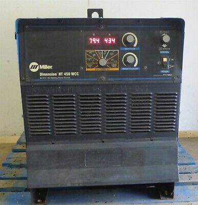2011 Miller Dimension Nt-450 Dc Multi Process Mig Tig Stick Arc Welder