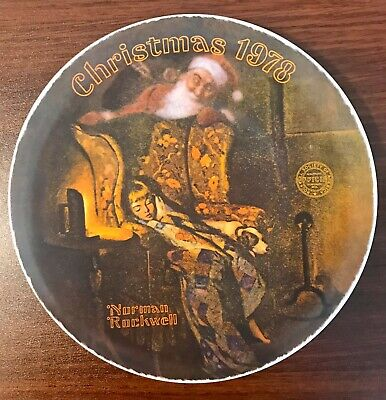 Norman Rockwell Christmas Dream Collector Plate Knowles Limited Edition 1978