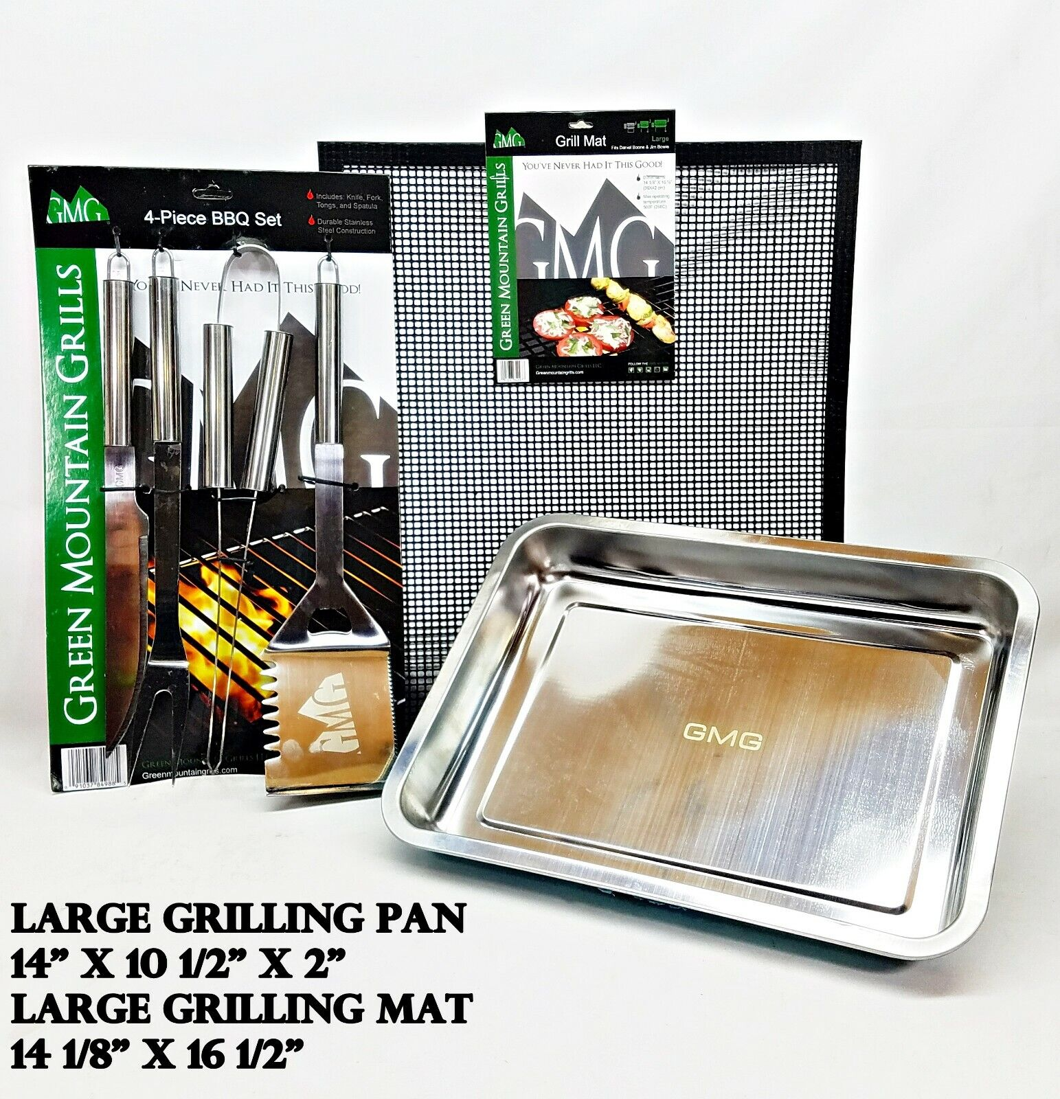 GREEN MOUNTAIN GRILL, GMG ACCESSORY PACKAGE, LARGE MAT, LARG