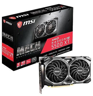 MSI Radeon RX 5500 XT MECH 8G OC Graphics Card, PCI-E 4.0, 8G GDDR6