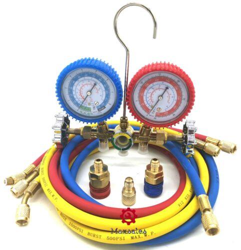 New HVAC R12 R22 R134A R502 Dual Gauge A/C Diagnostic Manifold Tester Set