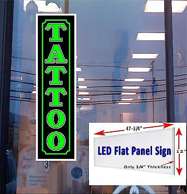 Tattoo Led Illuminated Window Sign 48x12 Our Number 1 Seller