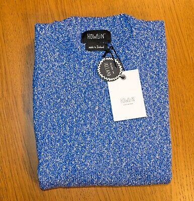 NWT HOWLIN' BY MORRISON IRISH COTTON SWEATER BLUE SMALL