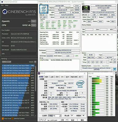 Intel Xeon Platinum 8260 ES-QS QQ89 2.2GHz 24C LGA3647 165W 2rd Generation !!