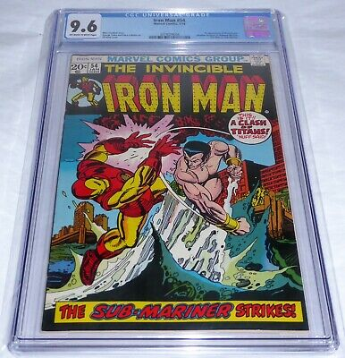 Iron Man #54 CGC Universal Grade Comic 9.6 1st Moondragon Iron Man v Sub-Mariner