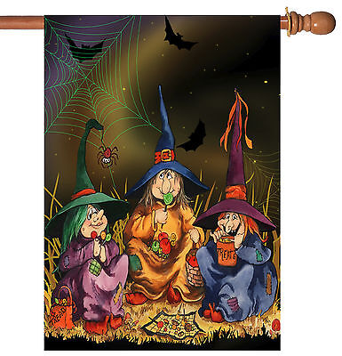 Toland Candy Coven 28 x 40 Spooky Halloween Witch Spider Web House Flag](Halloween Witches Coven)