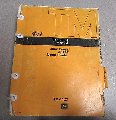John Deere Jd770 Motor Grader Technical Manual Tm-1123 1975