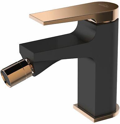 Negro/Rose Gold Latón Baño Bidet Grifo Válvula Mezcladora Enchufe Click-Clack