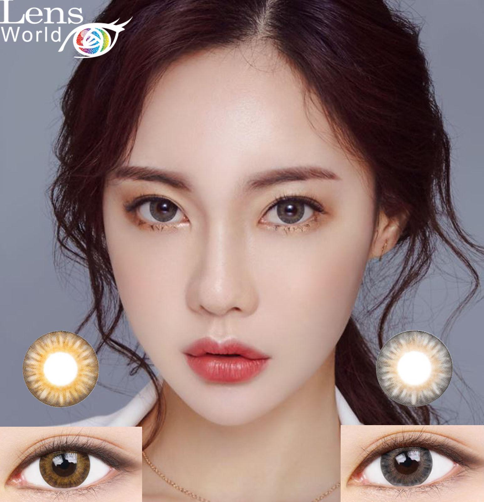 Cocktail Silicon Brown Gray Color Farbige Kontaktlinsen-Stärke-Korea Color Lens