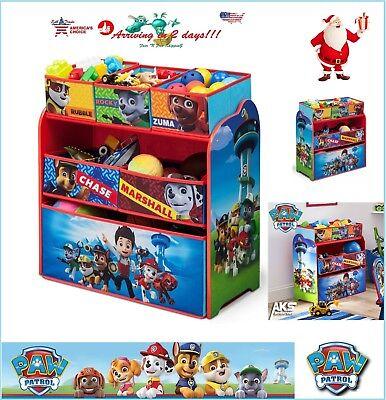 PAW Patrol Kids Toy Box Organizer Bin Children