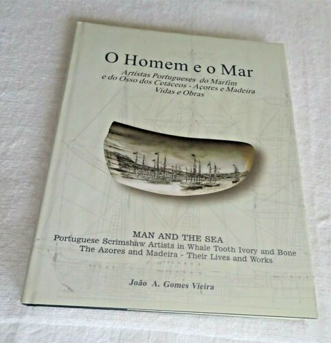 O Homem e o Mar Scrimshaw, Whale Tooth, Nautical, Ships Book