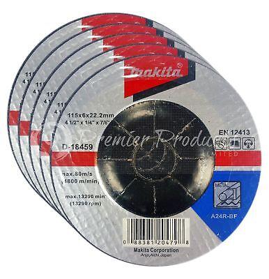 """Makita 5 Pack - 4.5"""" Grinding Wheel For 4.5"""" Grinders On Metal"""