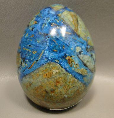 Chrysocolla Malachite 2.25 inch Stone Egg 56 mm Gemstone Arizona #4