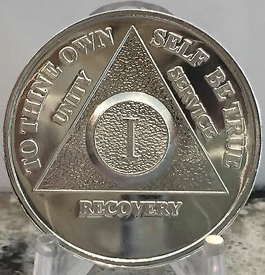 Any Year .999 Silver AA Alcoholics Anonymous Medallion Chip Coin Priority Ship