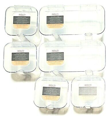 6 Deflecto Stackable Caddy Organizer Compartment Storage Container 4 Sm. 2 Med.