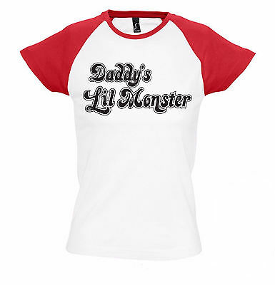 Daddy's Lil Monster Girlie Shirt | Superheld | Kostüm | Joker | Suicide (Kostüm Joker)