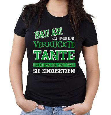 Verrückte Tante Girlie Shirt | Superheld Damen Frauen Sprüche Kostüm Frauentag