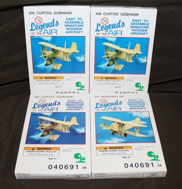 Details About 4 New Legends Of The Air Wooden Plane Model Kits Curtiss Goshawk Albatros Dv