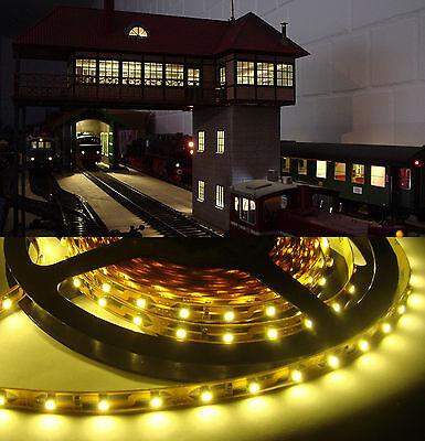 4,99€/m 1 m SMD Led Lichtband warmweiss, Beleuchtung für Stellwerk u.v.a.