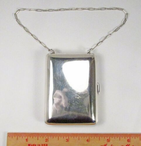 Vintage The Thomae Co Sterling Silver Wristlet Dance Card Case Coin Purse Wallet