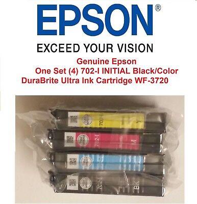 Genuine Epson 702-I INITIAL Black/Color DuraBrite Ultra Ink Cartridge WF-3720