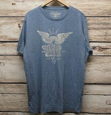 LUCKY BRAND T-Shirt Men XXL Durable Goods Tee Shirt Eagle Iron Works Blue Iron Works T-shirt