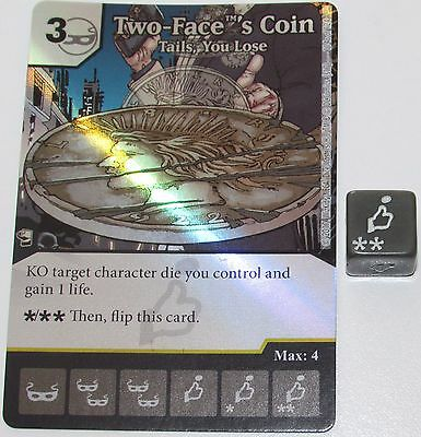 FOIL TWO-FACE'S COIN: TAILS, YOU LOSE 114/124 Batman Dice Masters DC (Twoface You)
