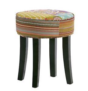 hocker sitzhocker w rfel stoff patchwork bunt f e kolonial m bel french style ebay. Black Bedroom Furniture Sets. Home Design Ideas